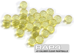 .43 Clear Paintballs (Bag of 250)