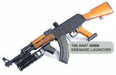 T68 AK47 Gun with 40mm Grenade Launcher Package