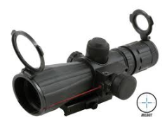 Rubber Armored Mark III Tactical Scope with Laser