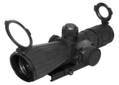 Rubber Armored Mark III Tactical 3-9x42 Scope w/Red Laser