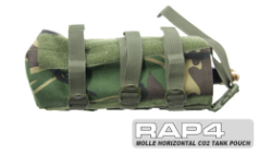Horizontal CO2 Air Tank MOLLE Paintball Pouch