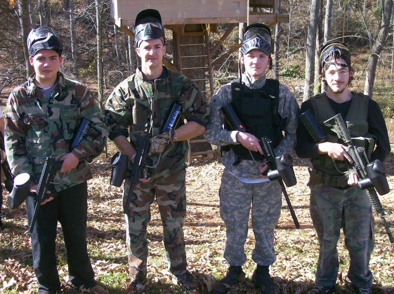 tactical insertion paintball team