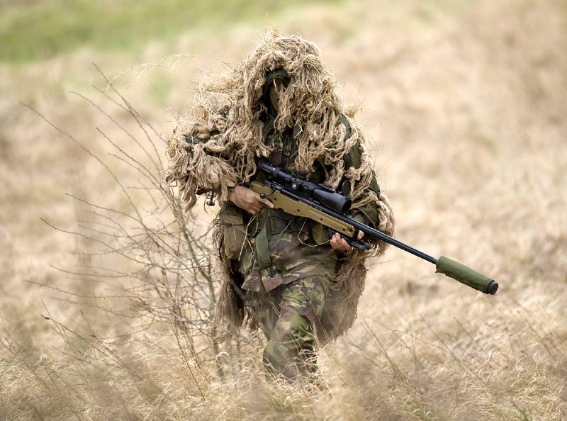 Navy SEAL Ghillie Sniper