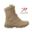 "Rothco 8"" Forced Entry Desert Tan Deployment Boot w/Side Zipper"