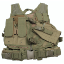 Children's Tactical Paintball Chest Vest - Olive