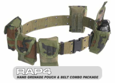 Hand Grenade Pouch & Belt Combo Package