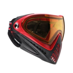 Dye Invision Goggle I4 Pro Paintball Mask - Red