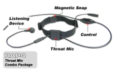 Throat Mic Combo Package
