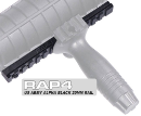 Tippmann Alpha Black 20mm Rail (with mounting screws)